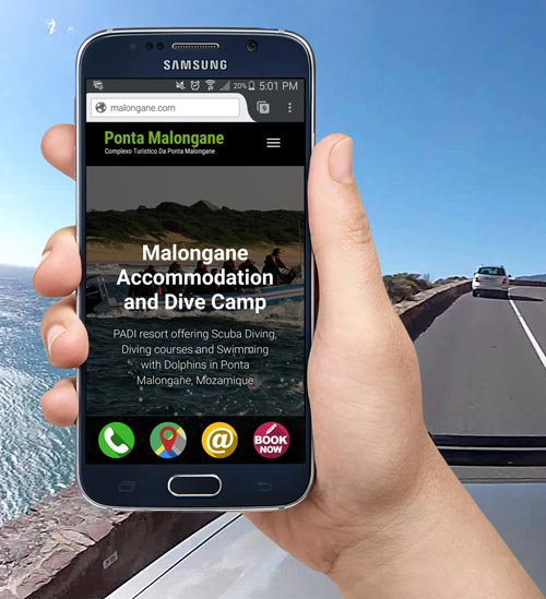 A New Website for Ponta Malongane – Scuba Dive Camp & Accommodation Resort