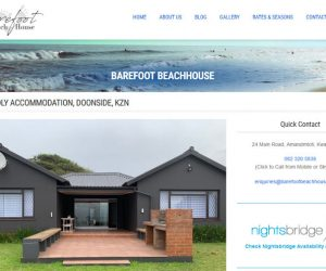 Barefoot Beach House – New Website and Hosting Services